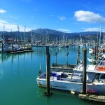 Hafen in Nelson